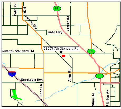Location map of Bakersfield QDC